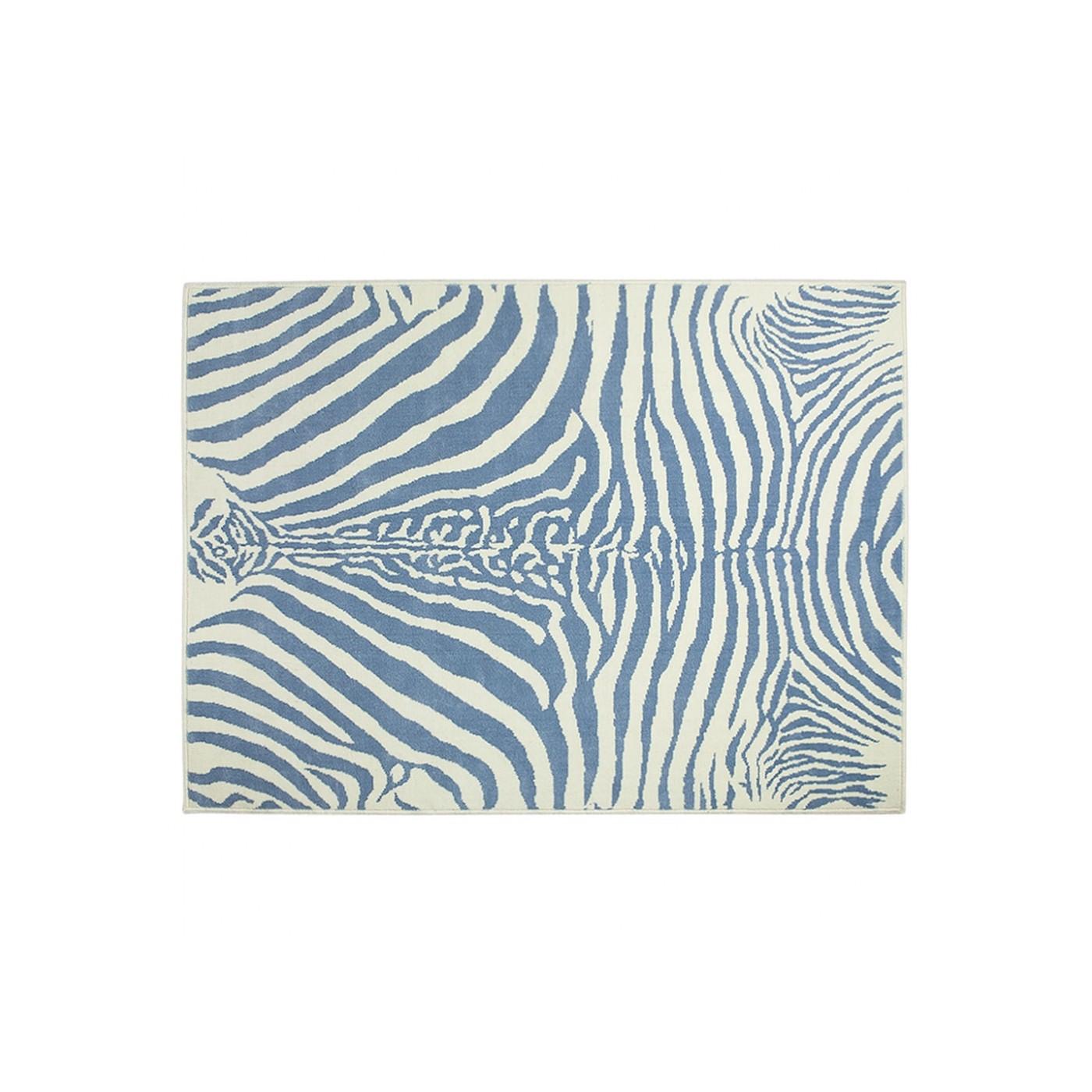 Tapis Zebre Bleu 140x200 Yadayada