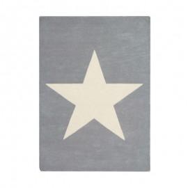 TAPIS EN LAINE - BIG STAR - GRIS CLAIR - 140X200
