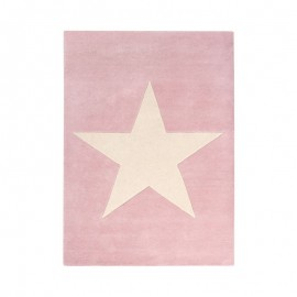 TAPIS EN LAINE - BIG STAR - ROSE VINTAGE - 140X200