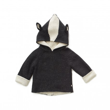 CARDIGAN REVERSIBLE A CAPUCHE - FURET - OEUF NYC
