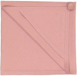 COUVERTURE A CAPUCHE EN CACHEMIRE CLEMENTINE VIEUX ROSE- LES LUTINS
