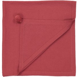 COVER HOODED CASHMERE CLEMENTINE RAPSBERRY - LES LUTINS