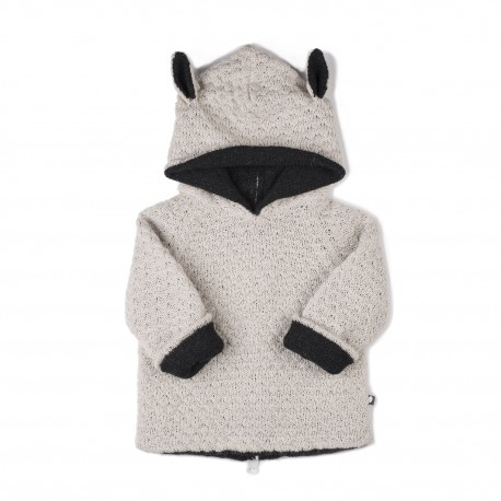 CARDIGAN REVERSIBLE A CAPUCHE - MOUTON - OEUF NYC