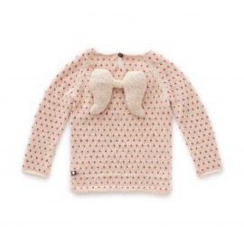 PULL ANGE - BEIGE ET POIS ROUGE - OEUF NYC