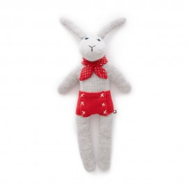 BUNNY DOLL GREY/RED - OEUF NYC