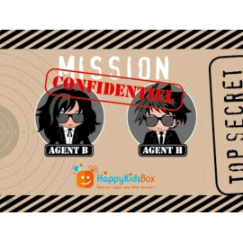 BOX ANNIVERSAIRE AGENT SECRET - HAPPY KIDS BOX