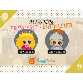 BOX ANNIVERSAIRE PRINCESSE ET CHEVALIER - HAPPY KIDS BOX