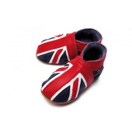 CHAUSSONS UNION JACK BEBE - INCH BLUE