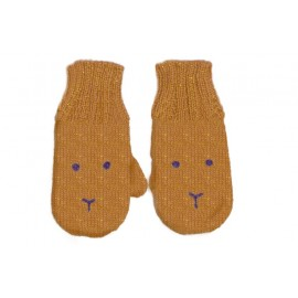 GOLD BUNNY MITTENS - OEUF NYC