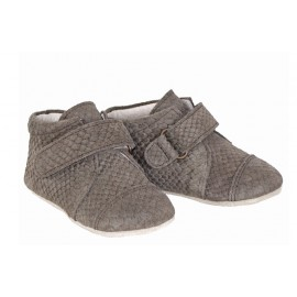 CHAUSSONS GRIS OLIVE