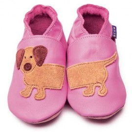 CHAUSSONS BEBE DASH ROSE - INCH BLUE