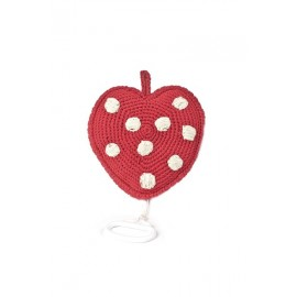 HEART MUSIC BOX RED DOTS