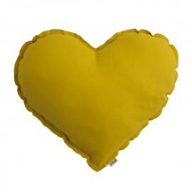 SUNFLOWER YELLOW HEART CUSHION - NUMERO 74