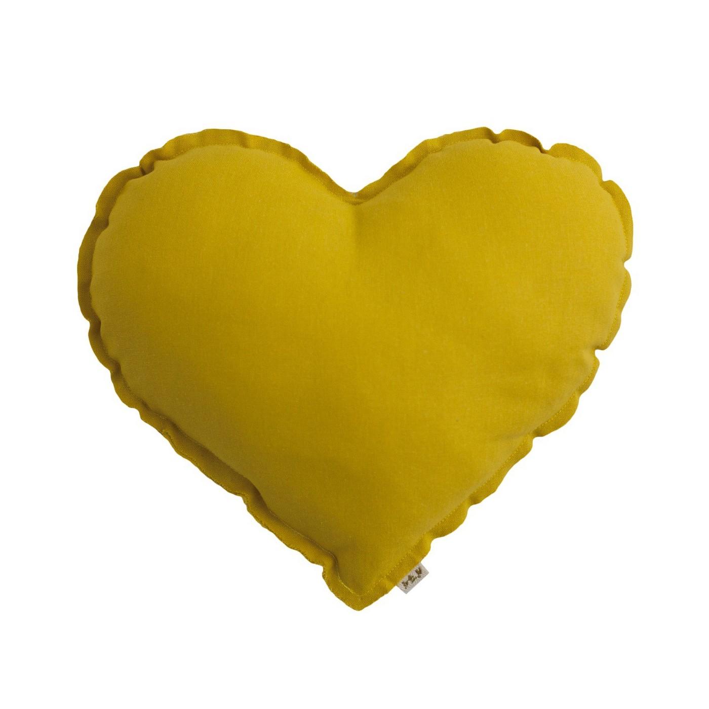 Sunflower Yellow Heart Cushion Yadayada