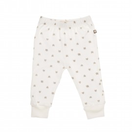 WHITE AND TAUPE CAT - WELCOME LEGGINGS