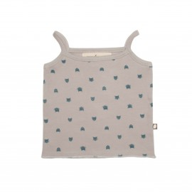 LIGHT GREY AND CAT WELCOME TANK TOP