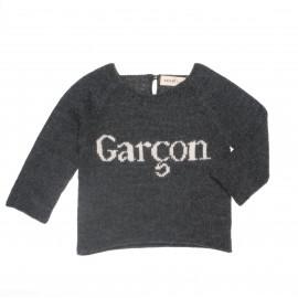 PULL GARCON - GRIS ET BLANC