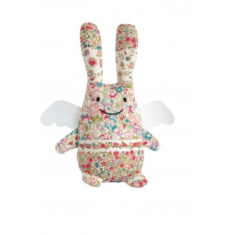 LAPIN ANGE MUSICAL - FLEURS ROUGES