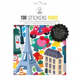 100 STICKERS PARIS