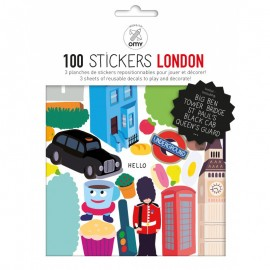 100 STICKERS LONDRES