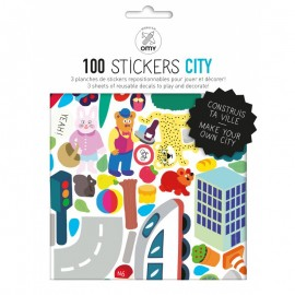100 STICKERS CITY