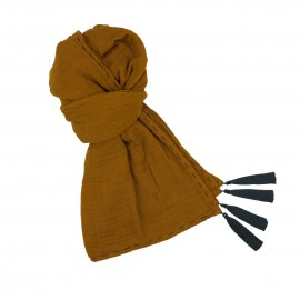 KID SCARF ECHARPE MOUTARDE