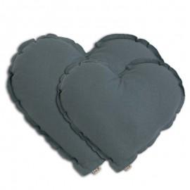 LARGE ICE BLUE HEART CUSHION - NUMERO 74