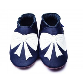 CHAUSSONS ENFANT BOW NAVY - INCH BLUE