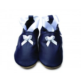 CHAUSSONS BEBE BALLET NAVY - INCH BLUE