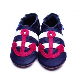 CHAUSSONS SAILOR NAVY ET ROUGE ENFANT - INCH BLUE