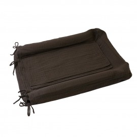HOUSSE MATELAS A LANGER RECTANGLE TAUPE