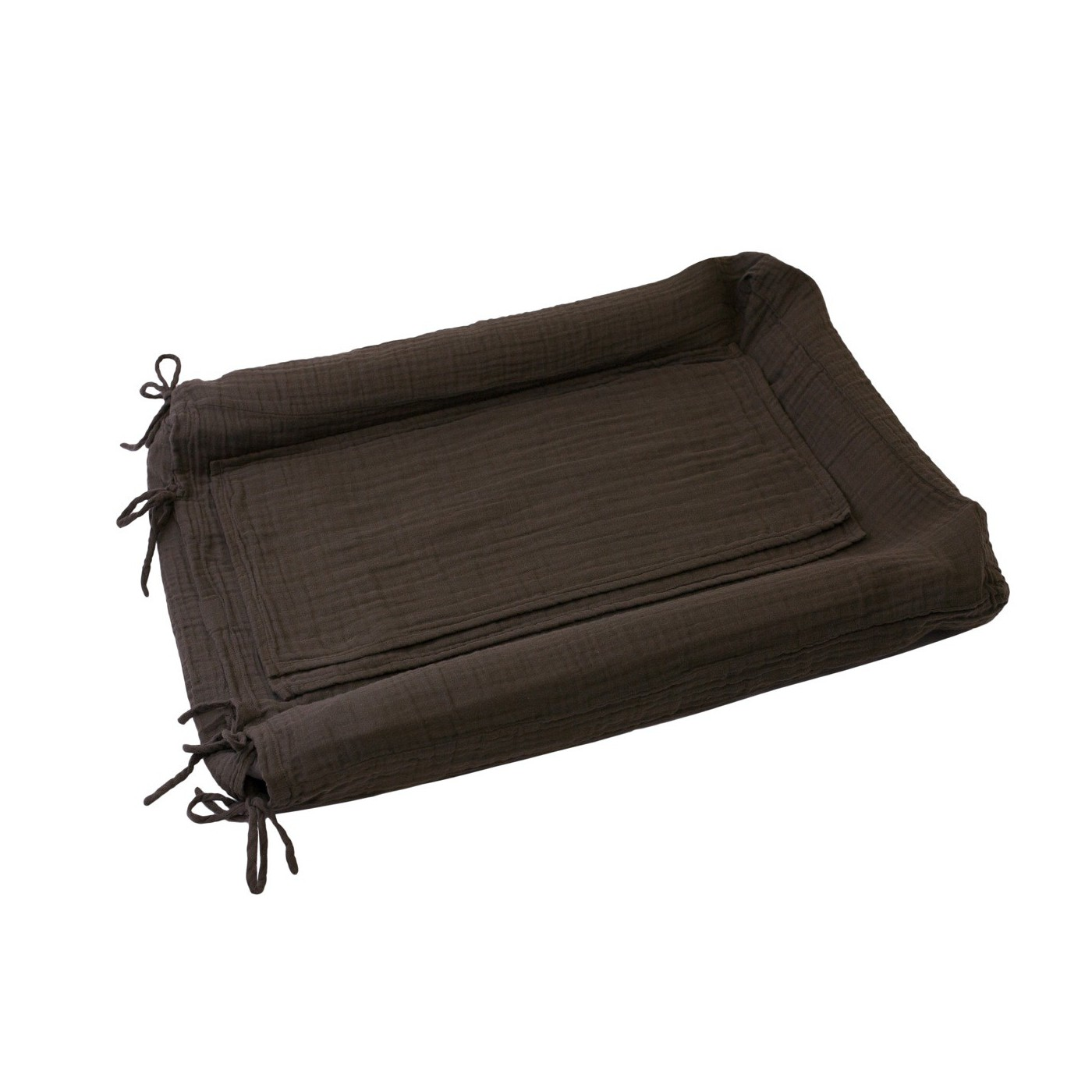 Housse matelas a langer rectangle taupe yadayada for Housse matelas a langer