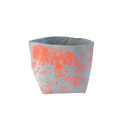 bac de rangement gris jouy orange large yadayada
