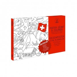 SWITZERLAND COLORING POSTER - OMY