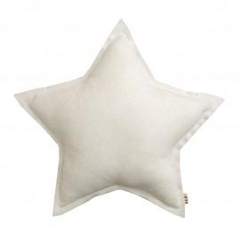 MINI STAR CUSHION SPARKLING TULLE - WHITE