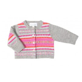 CARDIGAN JACQUARD ROSE
