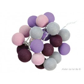 LIGHTING GARLAND - PRUNE SILVER GREY AND DUST PINK