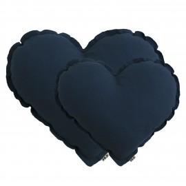 LARGE NIGHT BLUE HEART CUSHION - NUMERO 74