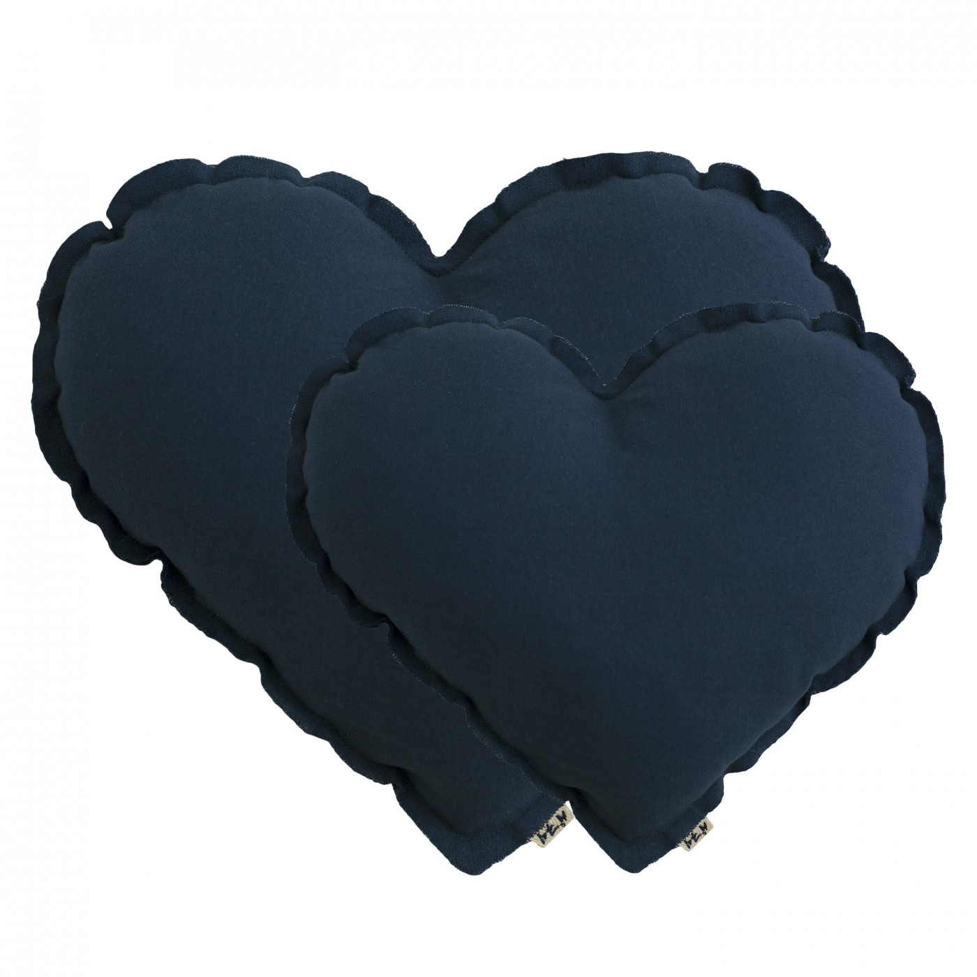grand coussin coeur bleu nuit yadayada. Black Bedroom Furniture Sets. Home Design Ideas