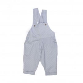 OVERALL WHITE AND NAVY STRIPES