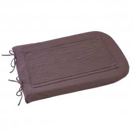 ROUND CHANGING MAT COVER - LILAC