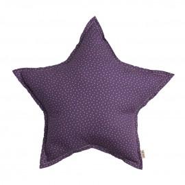 LARGE STAR CUSHION - STARS PURPLE - BEIGE - NUMERO 74