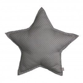 LARGE STAR CUSHION - MED DOTS GREY - NUMERO 74