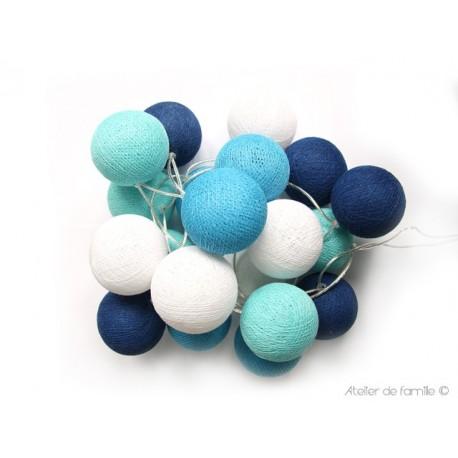 Guirlande lumineuse bleu yadayada - Guirlande boule lumineuse bleu ...