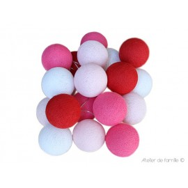 LIGHTING GARLAND - RED AND PINK