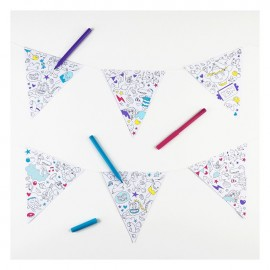 COLORING BUNTING GARLAND - OMY
