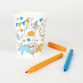 8 COLORING PAPER CUP