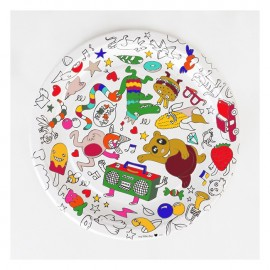 8 COLORING PAPER PLATES - OMY