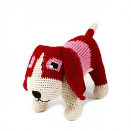 FINE BASSET 27 CM RED AND PINK