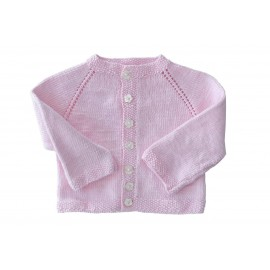 BABY CARDIGAN - PINK - 0 - 3 MOIS